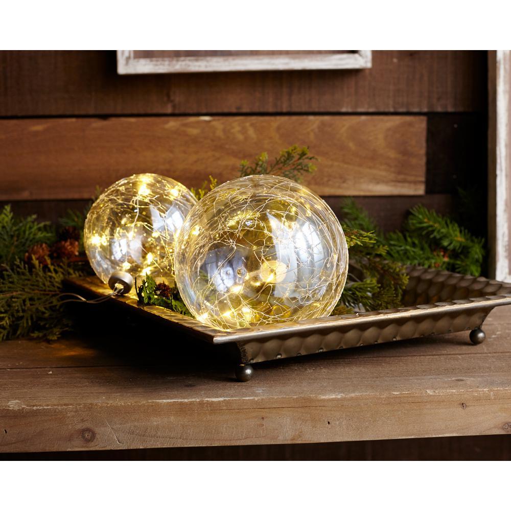 LED LIGHT BALL ORNAMENT Christmas Holiday Illuminated Home ...