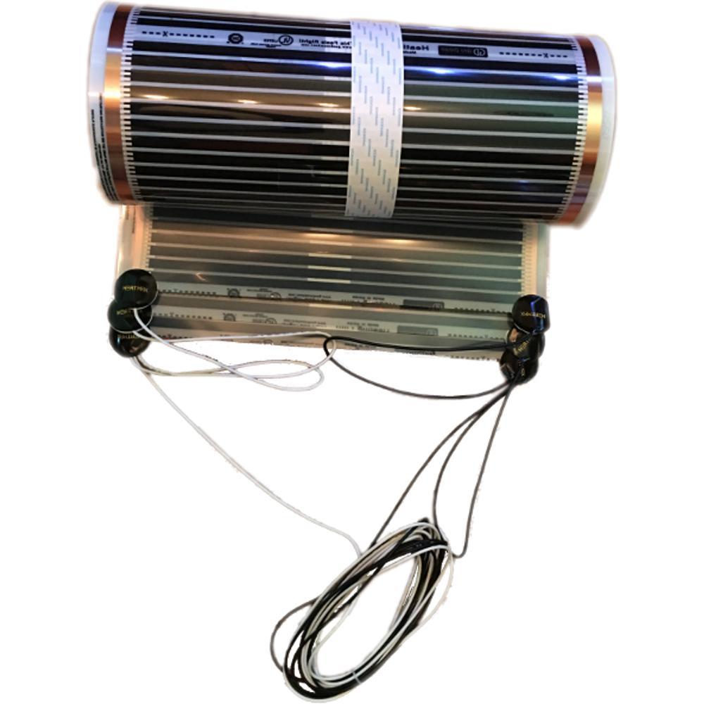 122 in. x 59 in. 120-Volt Radiant Floor Heating Film Kit for Floating Floors (50 sq. ft.)