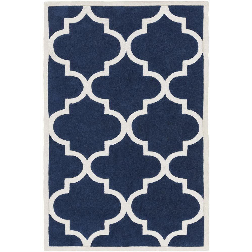 Idala Navy 5 ft. x 8 ft. Indoor Area Rug