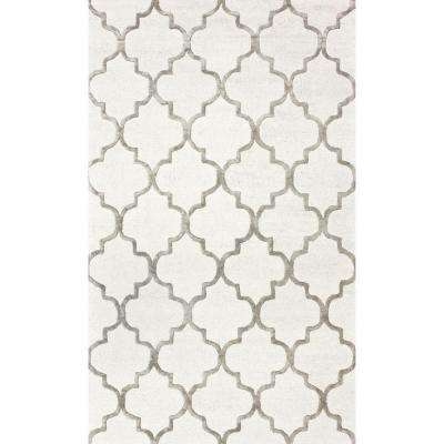 Park Avenue Trellis Nickel 12 ft. x 15 ft. Area Rug