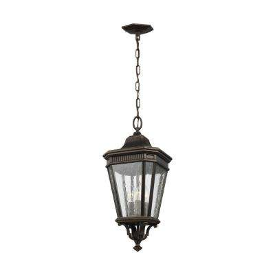 Cotswold Lane Grecian Bronze 3-Light Hanging Lantern