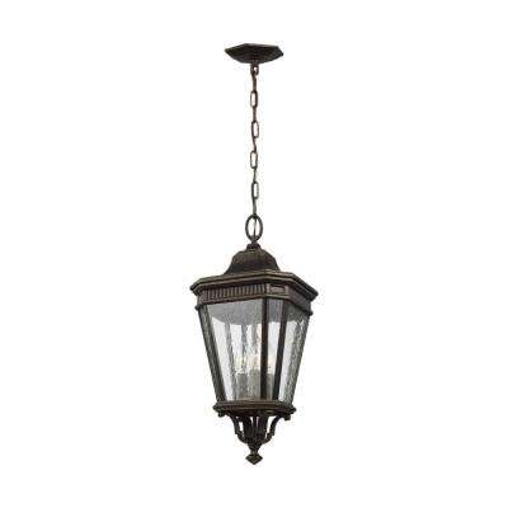 Cotswold Lane Grecian Bronze 3-Light Hanging Lantern