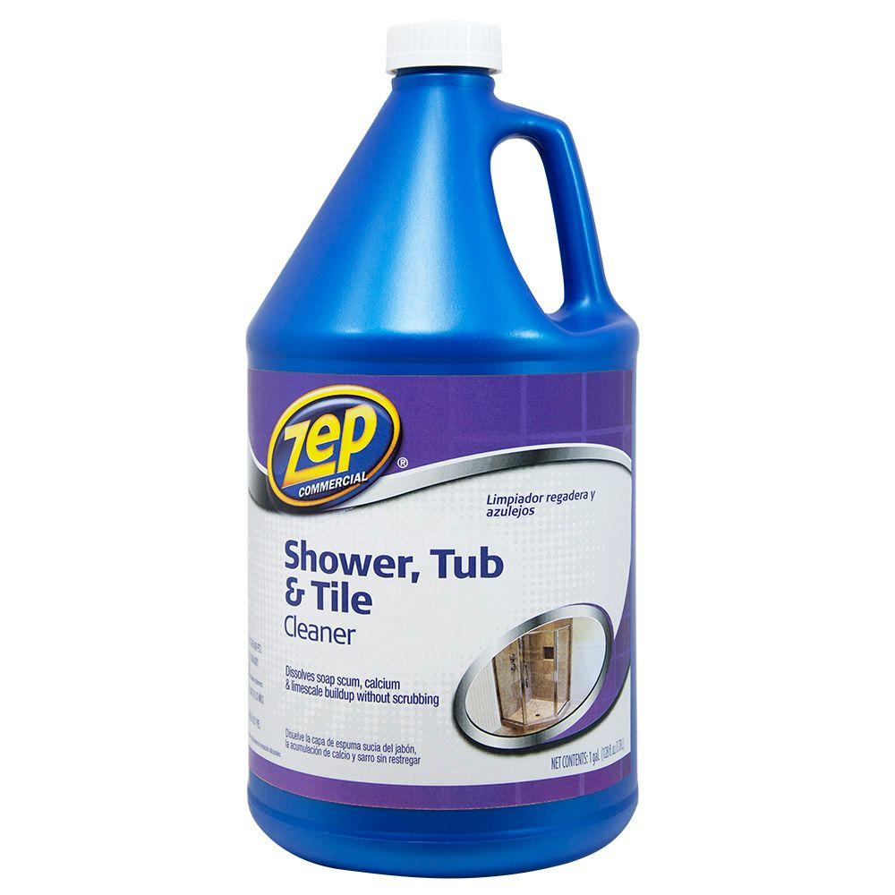How To Clean Bathroom Tile: ZEP 1 Gal. Shower Tub And Tile Cleaner-ZUSTT128