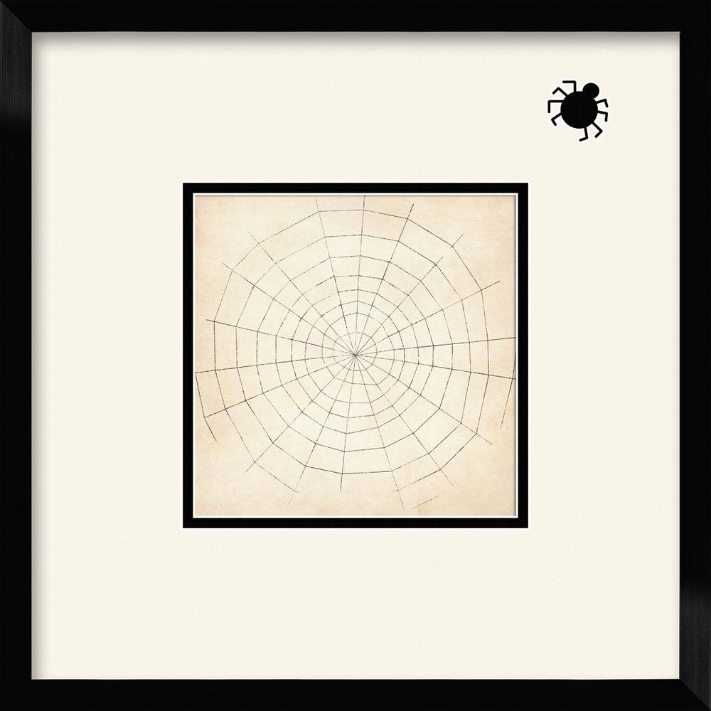 """PTM Images 17 1/2 in. x 17 1/2 in. """"Spiderweb"""" Framed Wall Art"""