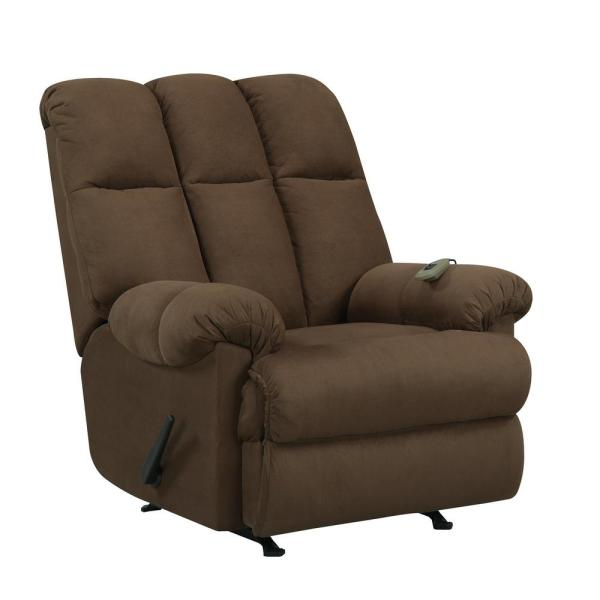 Padded Chocolate Massage Chair Recliner