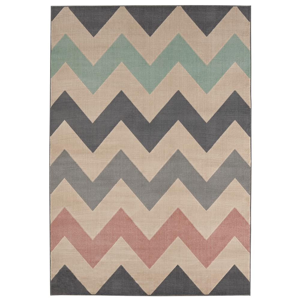 Chevron Grey 8 ft. x 10 ft. Area Rug