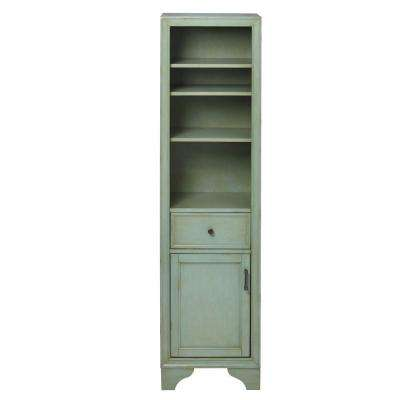 Hazelton 18 in. W x 15 in. D x 67-1/2 in. H Bathroom Linen Cabinet in Antique Green