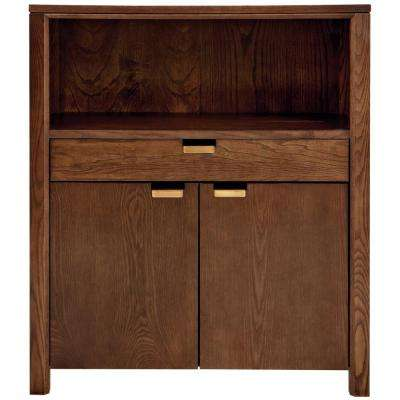 Riley Warm Chestnut Storage Open Bookcase