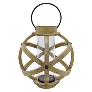 THREE HANDS Wood Lantern by THREE HANDS