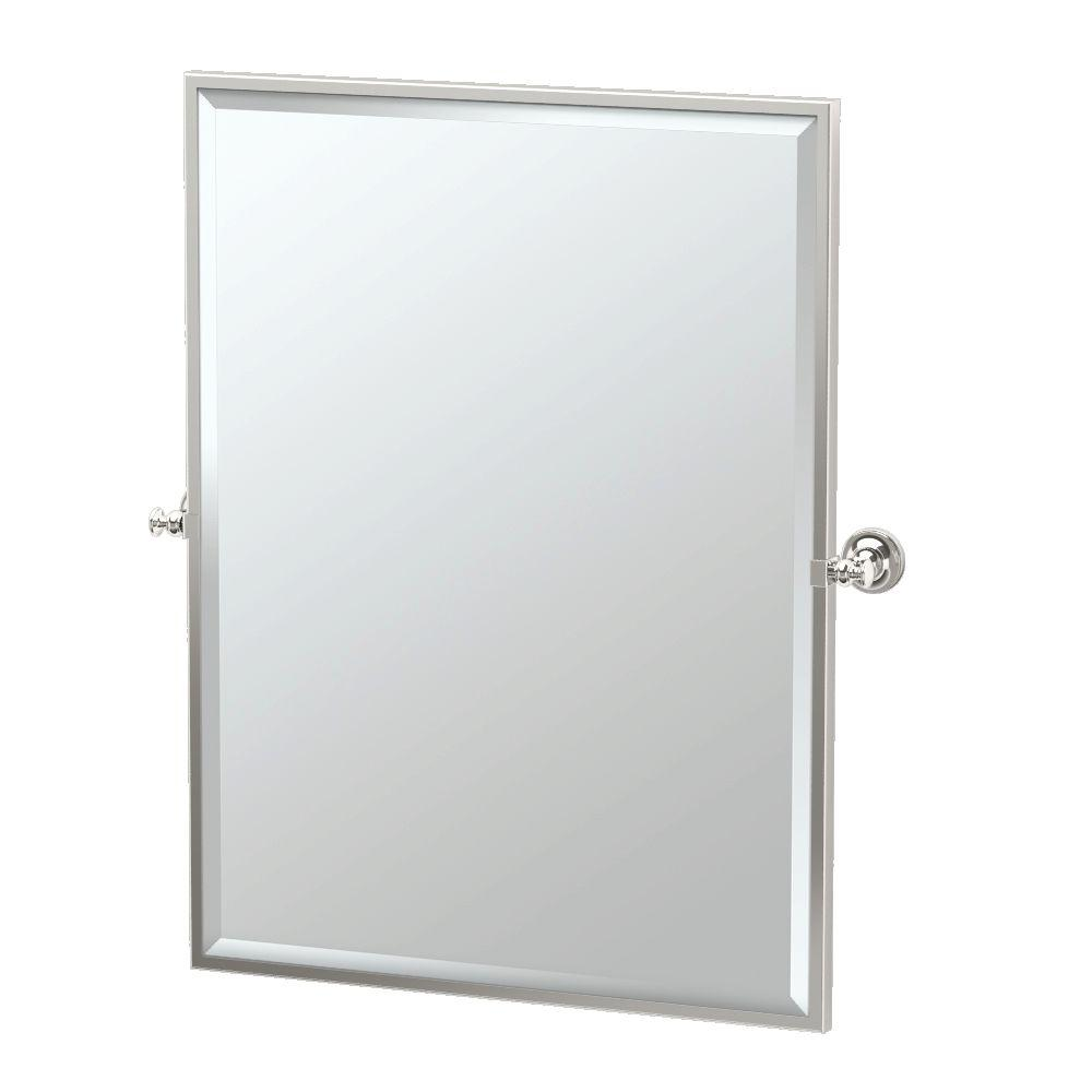 Tavern 28 in. x 33 in. Framed Single Large Rectangle Mirror