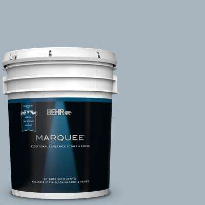 5 gal. #MQ5-23 Intercoastal Gray Satin Enamel Exterior Paint and Primer in One