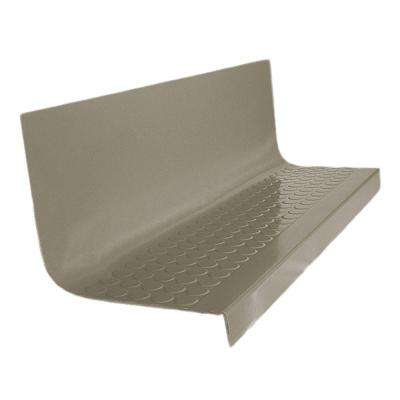 Vantage Circular Profile Lunar Dust 20.4 in. x 48 in. Rubber Square Nose Stair Tread