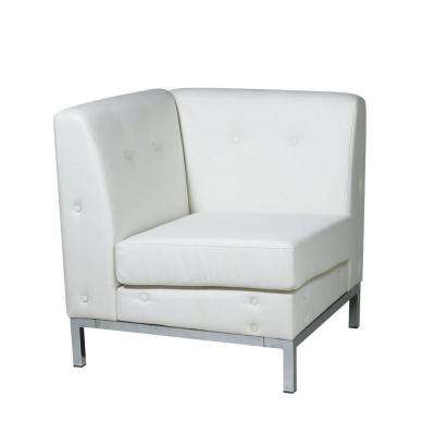 Wall Street White Faux Leather Sectional