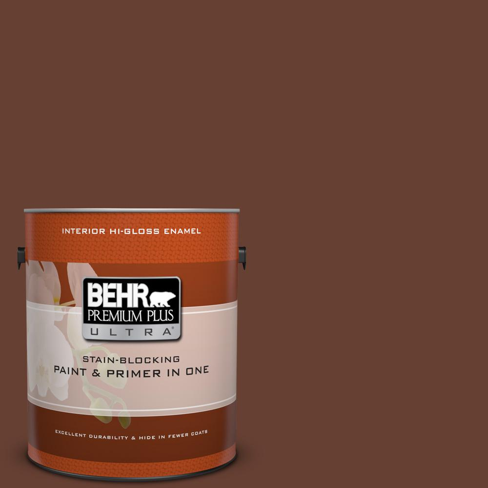 1 gal. #BXC-45 Classic Brown Hi-Gloss Enamel Interior Paint