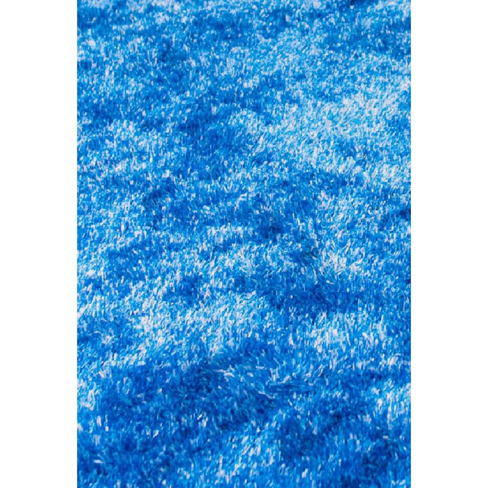 Amazing Rugs Fuzzy Blue And White 8 Ft X 11 Ft Soft Hand Tufted