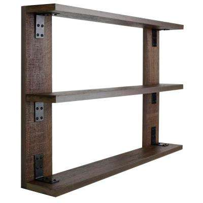 3shelf wood and metal trishelf
