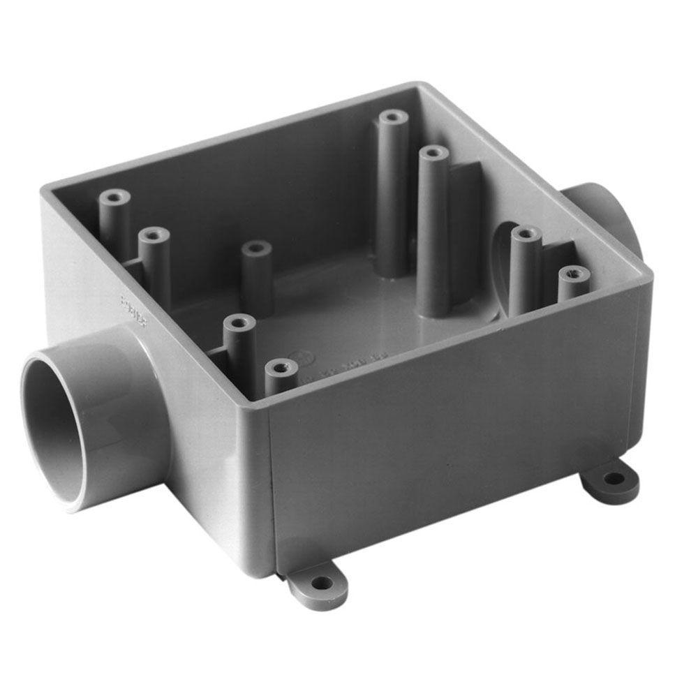 1/2 in. 2-Gang PVC FSC Box (4 per Case)