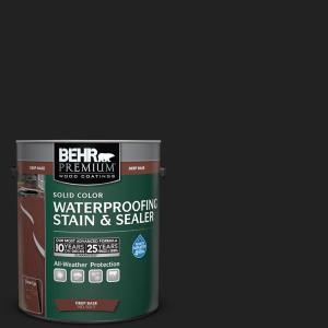 1 gal. #SC-102 Slate Solid Color Waterproofing Exterior Wood Stain and Sealer