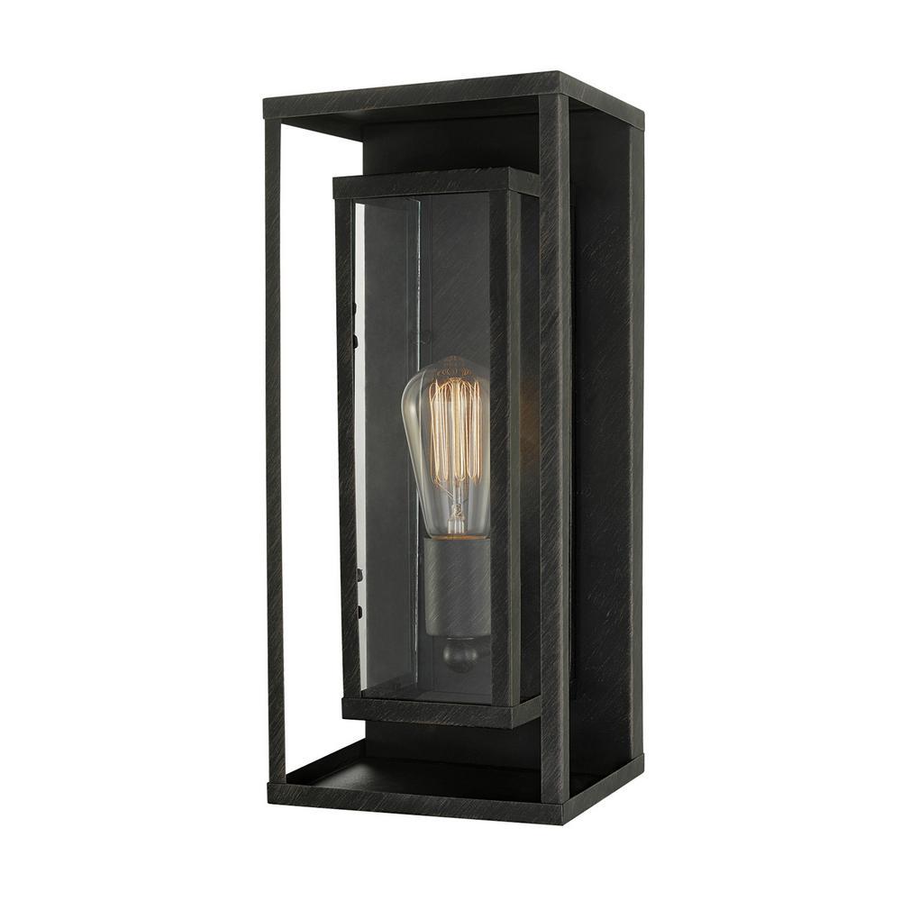 Montague 1-Light Bronze Outdoor Wall Lantern Sconce