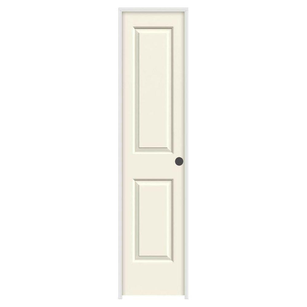 18 in. x 80 in. Cambridge Vanilla Painted Left-Hand Smooth Solid