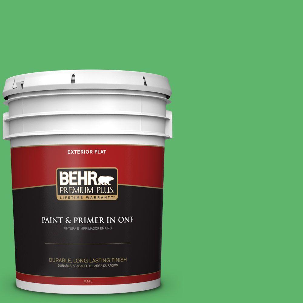 BEHR Premium Plus 5-gal. #P390-6 Lawn Party Flat Exterior Paint