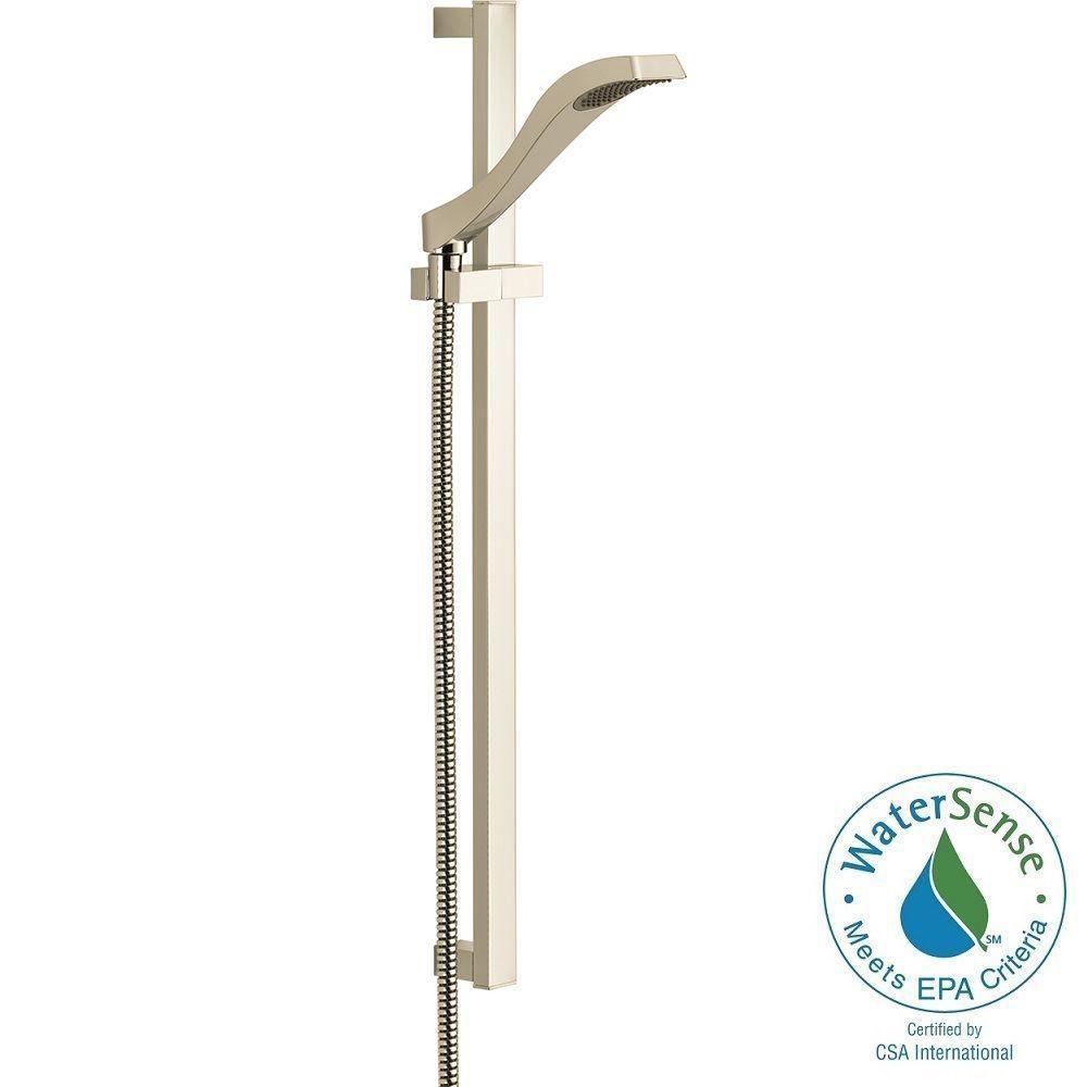 Delta Dryden 1 Spray Slide Bar Hand Shower In Polished Nickel