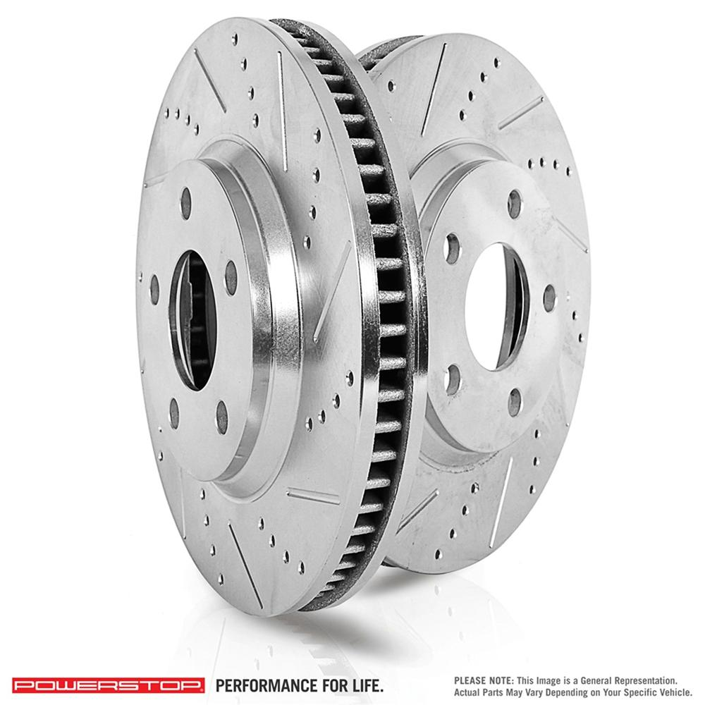 Land Rover Lr3 Lr4 Range Rover Sport Disc Brake Rotor: Power Stop Rear Extreme Performance Drilled & Slotted