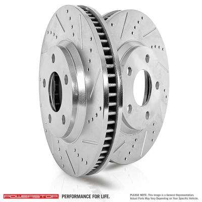 Front Extreme Performance Drilled & Slotted Brake Rotors fits 2004-2006 Volkswagen Phaeton