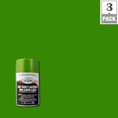 3 oz. Lime Ice Lacquer Spray Paint (3-Pack)