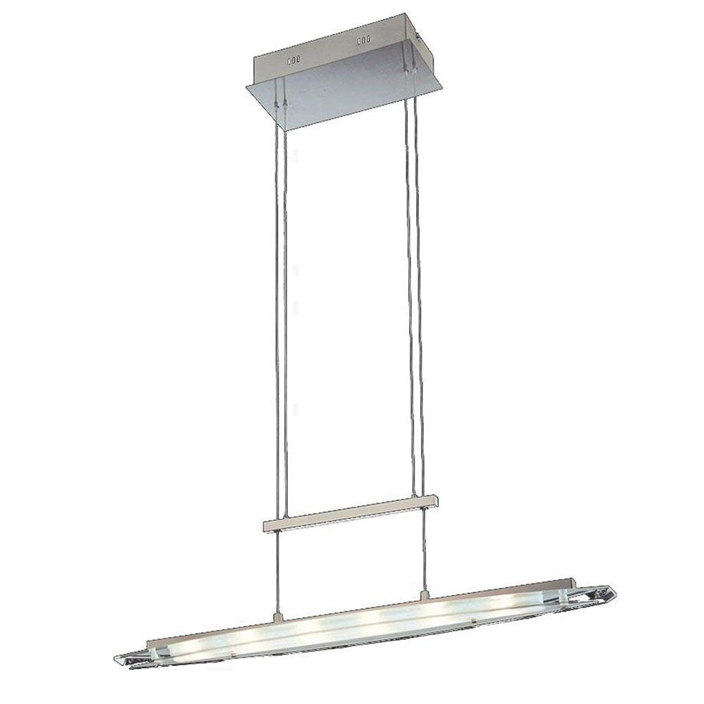 Illumine Cassiopeia 6-Light Satin Nickel Halogen Ceiling Island Light