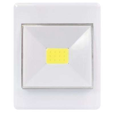 White Outdoor Integrated LED Wall Pack Light (2-Pack)