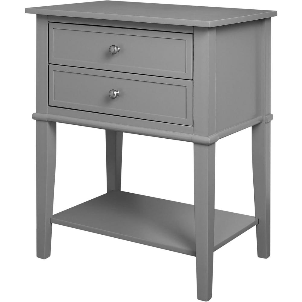 ameriwood queensbury gray accent table with drawers. ameriwood queensbury gray accent table with drawershd