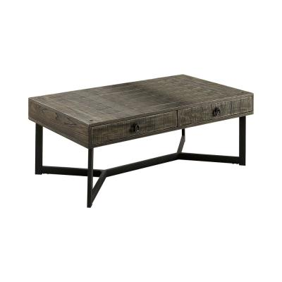 Shailee 48 in. Dark Oak/Espresso Large Rectangle Wood Coffee Table with Drawers