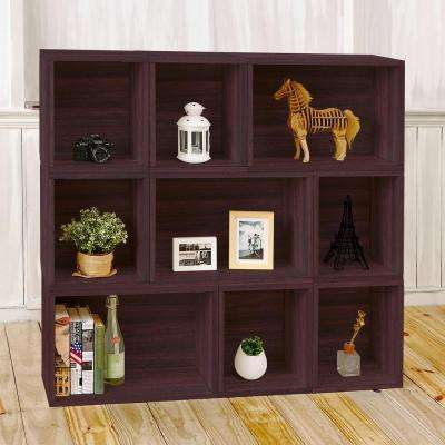 Oxford Eco zBoard Tool Free Assembly Espresso Stackable Modular Open Bookcase