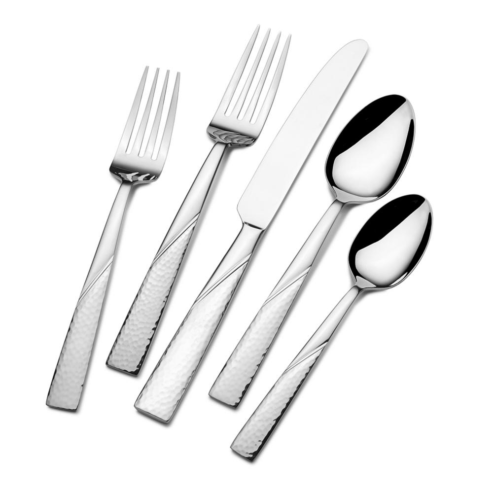 Barletta 42-Piece Stainless Steel Flatware Set with Wire Caddy