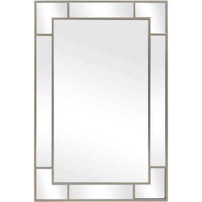 36 in. H x 24 in. W StyleWell Rectangle Framed Champagne Accent Mirror