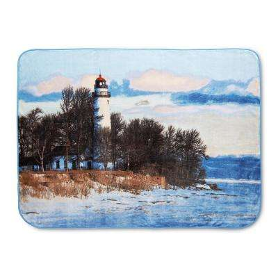 Hi Pile Lighthouse 60 in.x 80 in. Oversize Throw