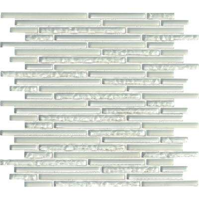 Ice Floe Blend Interlocking 12 in. x 12 in. x 8mm Glass Mosaic Tile (10 sq. ft. / case)