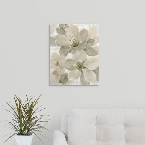 GreatBigCanvas 16 in. x 20 in. ''White on White Floral I