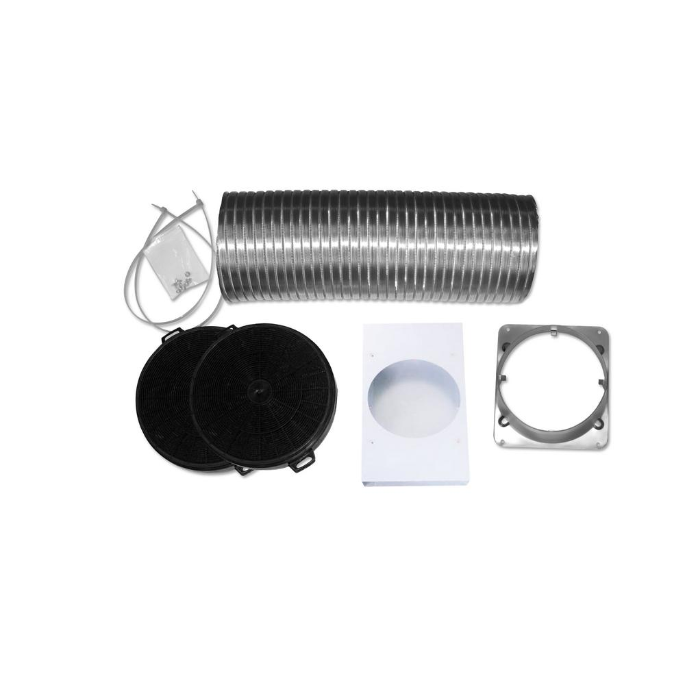 Non-Ducted Recirculating Kit for Wall Mount Glass Canopy Range Hood AN-1186