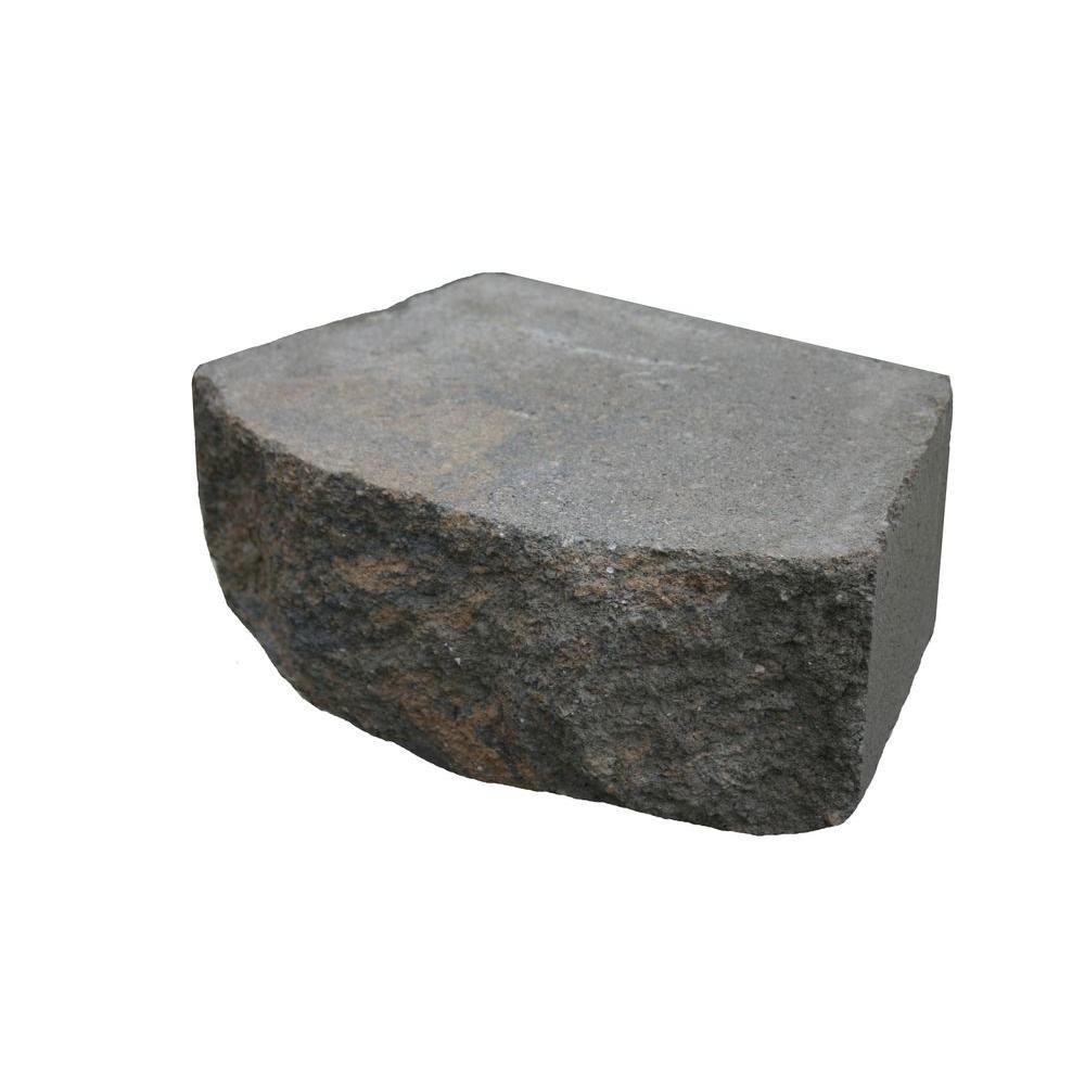 Basalite 16 in. Tan/Charcoal Retaining Wall Block