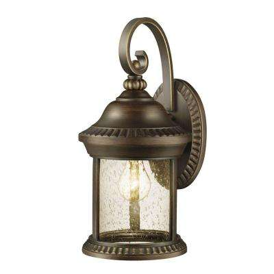 Cambridge Collection 1-Light Essex Bronze Outdoor Wall Mount Lantern