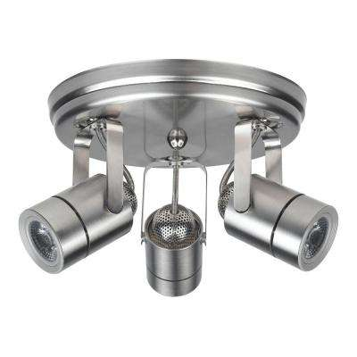 Nickel Dimmable Canopy Spot Light Set