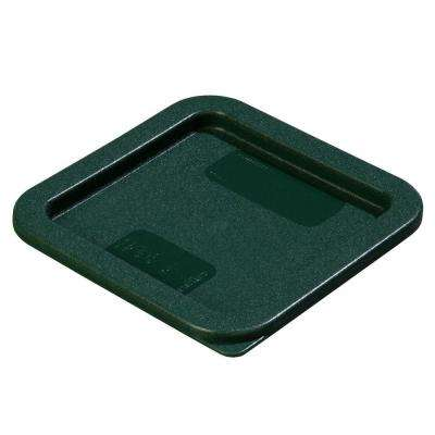 Fits all 2 and 4 qt. Polyethylene Containers in Green, Lid to Fit StorPlus Square Food Storage Containers (Case of 6)