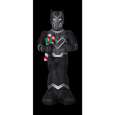 5 ft. Inflatable Christmas Airblown Black Panther with Candy Cane Marvel