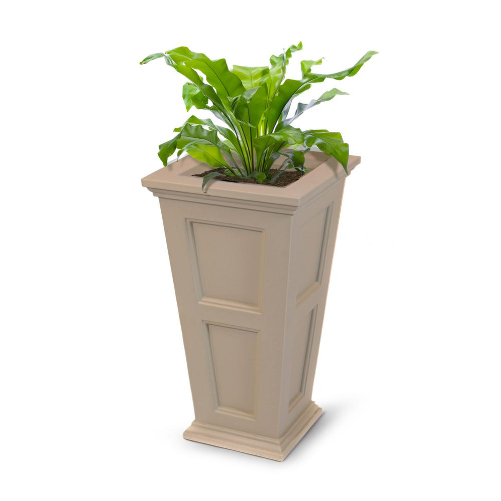 Mayne Fairfield 16 in. Square Clay Plastic Column Planter
