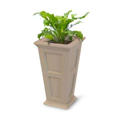 Fairfield 16 in. Square Clay Plastic Column Planter