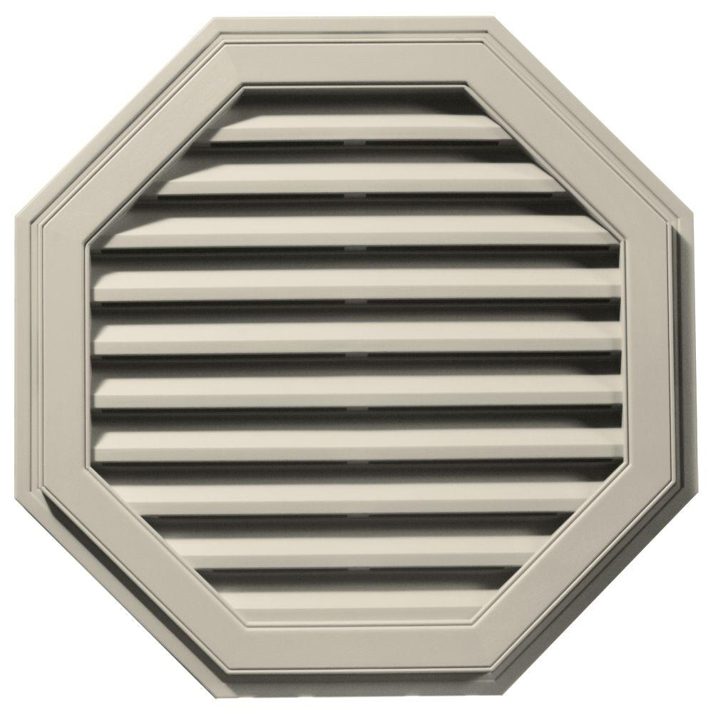 Builders Edge 32 in. Octagon Gable Vent in Champagne