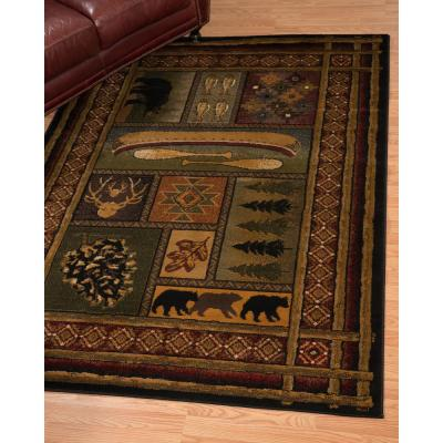 Affinity Lodge Canvas Multi 5 ft. 3 in. x 7 ft. 2 in. Area Rug