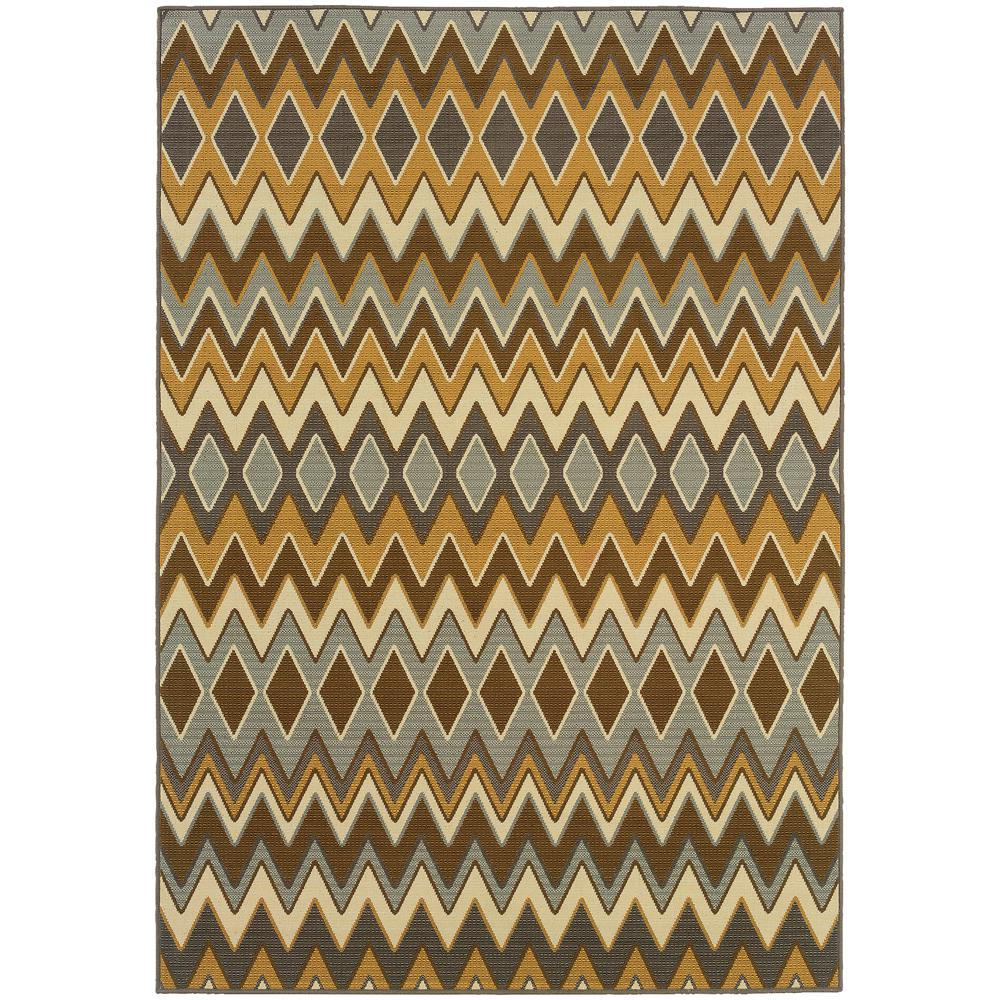 Fuego Multi 2 ft. x 4 ft. Indoor/Outdoor Area Rug